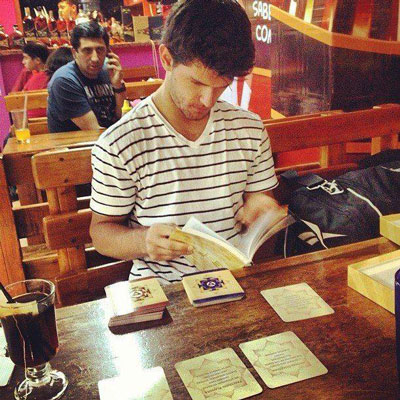 Kevin Diamond, using the cards in Nicaragua
